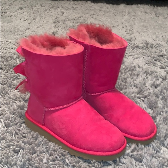 UGG Shoes - Pink Bailey Bow Uggs